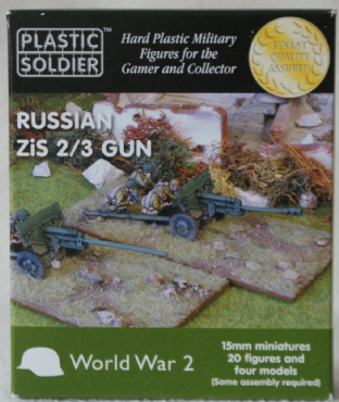 Plastic Soldier G15002 15mm WW2 Russian Zis-2 & Zis-3